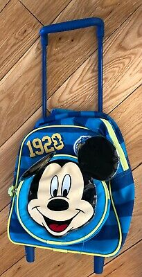 Boys Disney Store Blue Mickey Mouse Suitcase • 9£