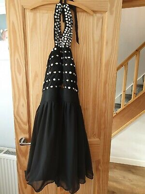 Black Cocktail Party Dress Size 18 • 10£