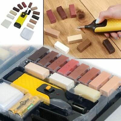 19pc Repair Kit For Laminate Floor / Worktop Chips Scratches DIY Wax Sturdy Case • 11.99£