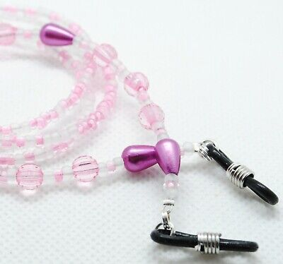 Spectacle / Sun Glasses Chain/Cord Pink Faceted Round Beaded RGC06 • 2.85£