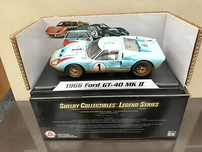 Shelby 405 Ford Gt 40 Mk11 Le Mans 1966 #1 Ken Miles End Of Race 1:18 • 74£
