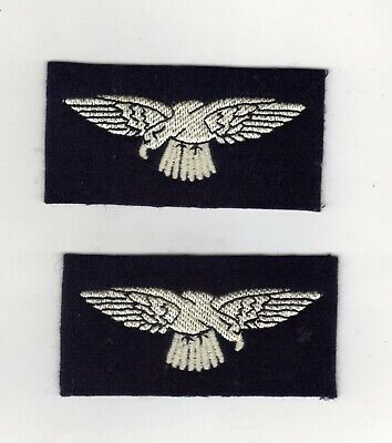 £3.99 • Buy World War 2 Type Royal Air Force Raf Eagle Cloth Shoulder Badges/patches — Pairs