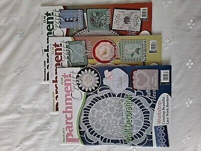 Parchment Craft Magazines(16) In All 2008/2009/(1)2007(1)2011) Made Notes Covers • 35£