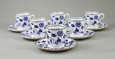 Spode China England Blue Colonel Y6235 Demitasse Coffee Cups & Saucers X 6  • 125£