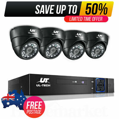 AU131.09 • Buy CCTV Security Camera System 4 Channel 1080P HD Wifi Home Outdoor Wireless HDMI