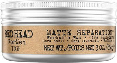 Bed Head For Men By Tigi Matte Separation Mens Hair Wax For Firm Hold 85 G • 8.99£