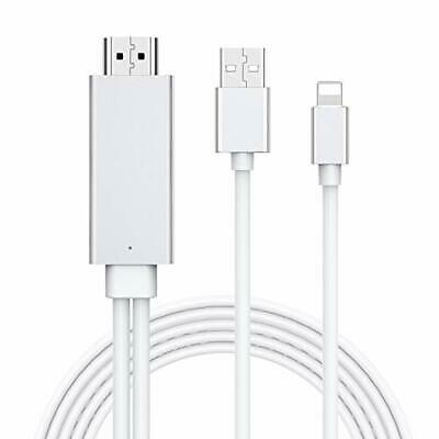 White HDMI Cable For IPhone, Compatible With TVs & Projectors • 16.99£