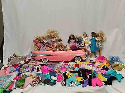$ CDN228.89 • Buy Lot Of Vintage Barbie Dolls With Clothes / Clothing And Car