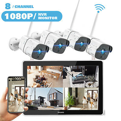 AU318.59 • Buy 8CH 1080P Wireless CCTV Security Camera System Outdoor Home NVR HD IP WiFi 2MP