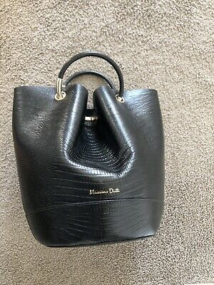 AU160 • Buy Massimo Dutti, Leather Bucket Bag