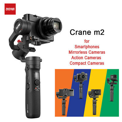 AU294.75 • Buy Zhiyun Crane M2 3 Axis Handheld Gimbal Stabilizer For Camera Gopro Smartphone