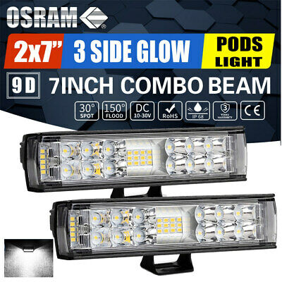 AU38.59 • Buy 2X 6 Inch 650W CREE LED Work Light Bar Pods Flush Mount Combo Driving 12V Lamps