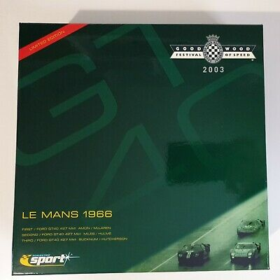 Scalextric C2529 Ford GT40 Le Mans 1966 Goodwood Festival Of Speed 2003 #7861 • 199.99£