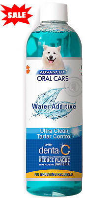 Water Additive For Pets Fresh Dog Breath Teeth Plaque Tartar Removal Dental Care • 9.25£
