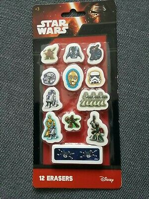 Star Wars Erasers/Rubbers X 12 (all Different Characters) Stationery Items • 1.47£