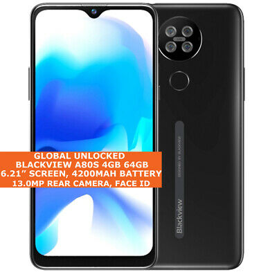 AU256.73 • Buy BLACKVIEW A80S 4gb 64gb Octa Core 6.21  Face Id Dual Sim Android10 4g Smartphone