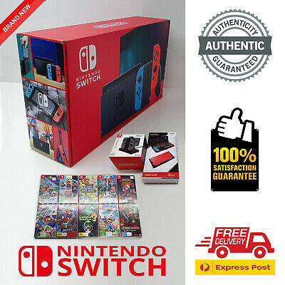 AU769.95 • Buy Nintendo Switch + 5 Games + 2 Extras (BRAND NEW IN BOX, AUTHENTIC)