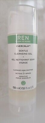 (FULL SIZE 150ml) REN EVERCALM GENTLE CLEANSING GEL *USED LIGHTLY* • 7.80£