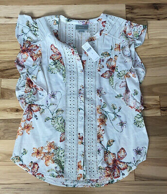 $ CDN44.51 • Buy Anthropologie Maeve Blouse Top Floral M! NWT!