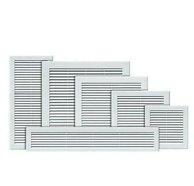 £2.99 • Buy White Air Vent Grille With Fly Screen And Screw Covers Ventilation Duct Cover