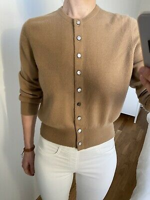 N Peal Brown 100% Cashmere Cardigan S • 75£