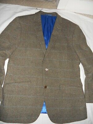 Viyella Quality Pure Wool Fabric Windowpane Check Tweed Jacket Size Uk 42R Eur52 • 64.99£
