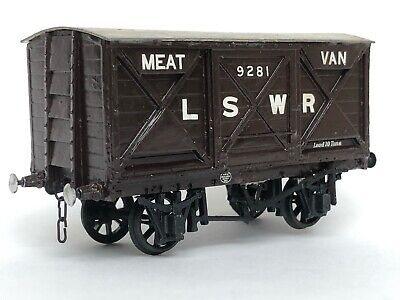 4mm LSWR MEAT VAN Constructed From A Mapel Models Body Kit. • 20£