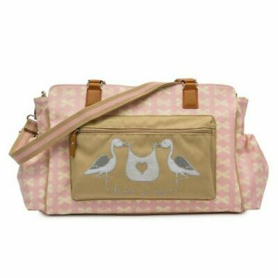 £44.99 • Buy Genuine Pink Lining Yummy Mummy Twice As Nice Pink Bows Changing Bag Twins (1)