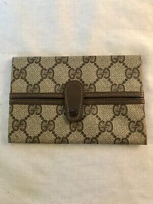 $90 • Buy Vintage Gucci Genuine Leather Wallet Coin Purse GG