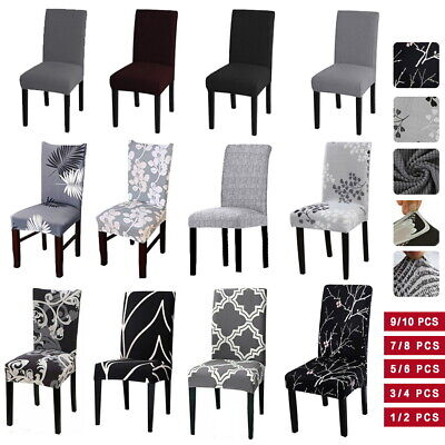 AU3.99 • Buy Stretch Chair Cover Seat Covers Spandex Lycra Washable Banquet Wedding Party NEW