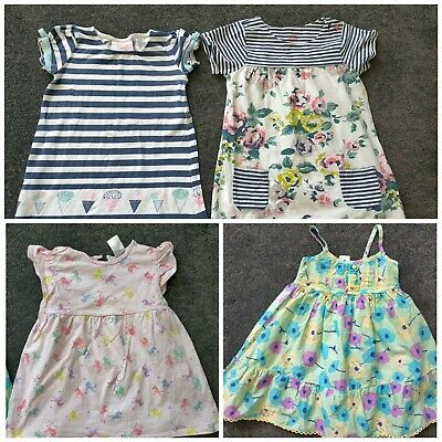 AU0.99 • Buy 4 Size 2 Girls Dresses. Floral Striped And Ice Cream Striped Unicorn Dress
