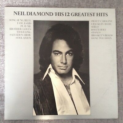 Lp Neil Diamond His 12 Greatest Hits 1972. • 4.99£
