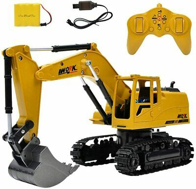 £24.99 • Buy 8 Channel Remote Control Excavator RC Digger Truck Tractor Construction Vehicles