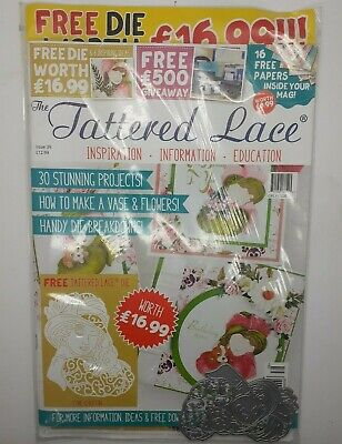 Tattered Lace Magazine Issue 39 + Die Esme & Button - BRAND NEW SEALED • 8.99£