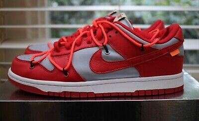 AU250 • Buy Nike Off White Dunk Low University Red* Size 9