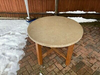 Solid Stone Round Table • 400£