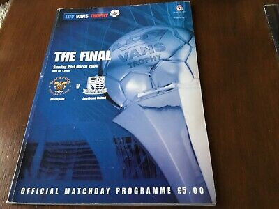 Blackpool V Southend United (LDV Vans Trophy Final) Programme 21/3/2004 • 1.25£