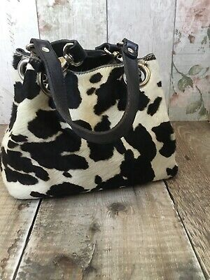 Russell And Bromley Cow Print Small Tote/Grab Bag • 11.50£