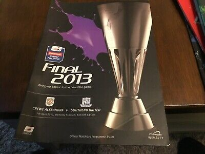 Crewe Alexandra V Southend United (Johnstone's Paint Trophy Final) Programme 7/4 • 1.49£