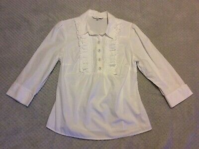 Ladies White M&S Limited Collection Size 12 Shirt  • 8£