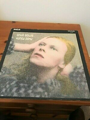 David Bowie 1971 Hunky Dory (Orange Label With Lyric Sheet, 1st Pressing • 15£