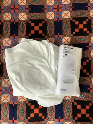 Two Quality IKEA White Fitted Sheets Double SÖMNTUTA, High Thread Count  • 6.80£