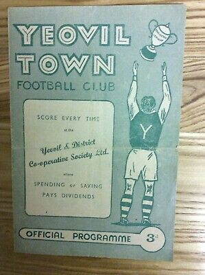 Yeovil Town V Southend United (F A Cup 1st Round Replay) 20/11/1958 • 2.99£