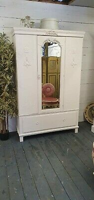 Pretty Vintage Painted Victorian Mirror Wardrobe Shabby Chic CAN ARRANGE COURIER • 275£