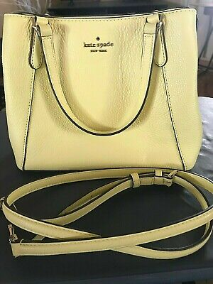 $ CDN98.89 • Buy Kate Spade Yellow Leather Handbag With Crossbody Strap