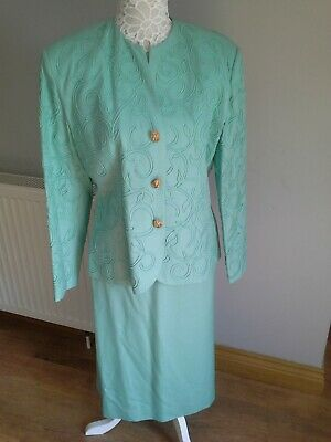 Green Suit Size 16 By Gill Harvey • 20£