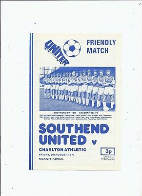 Southend United V Charlton Athletic 5 August 1977 Friendly • 0.99£