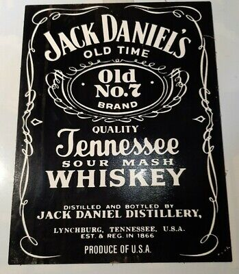 Genuine,Jack Daniels, Retro,Uncleaned, Salvaged,Collectable Tin Sign • 14.99£