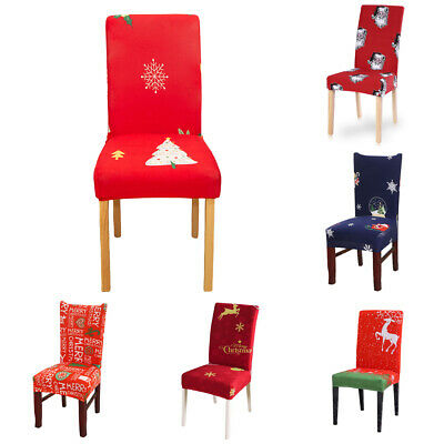 Christmas Dining Chair Covers Stretch Chair Slipcover,Removable Chair Protector • 5.12£