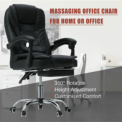 AU115.99 • Buy  Massage Office Chair Executive Gaming Racing Seat PU Leather With Footrest
